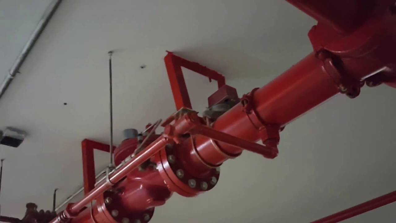 Fire Suppression Pipe : How to fire fighting pipe drain line youtube