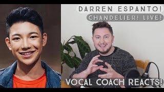 Vocal Coach Reacts! Darren Espanto - Chandelier Live on Wish 107.5!