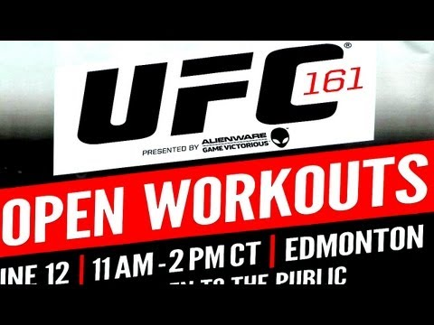 Winnipeg UFC 161 Open Workouts | Full version
