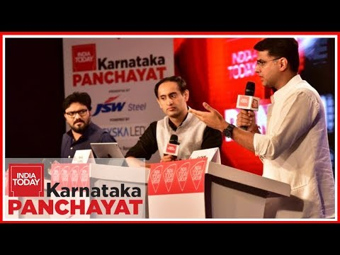 Babul Supriyo Vs Sachin Pilot : The Big Karnataka Face Off | India Today Karnataka Panchayat