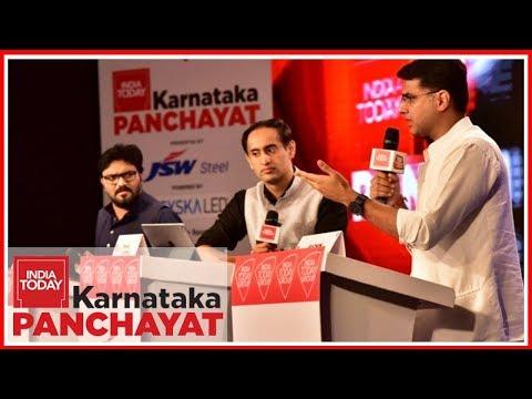 Babul Supriyo Vs Sachin Pilot : The Big Karnataka Face Off | India Today Karnataka Panchayat