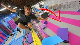 BREAKING SUPER TRAMPOLINE PARK RULES!