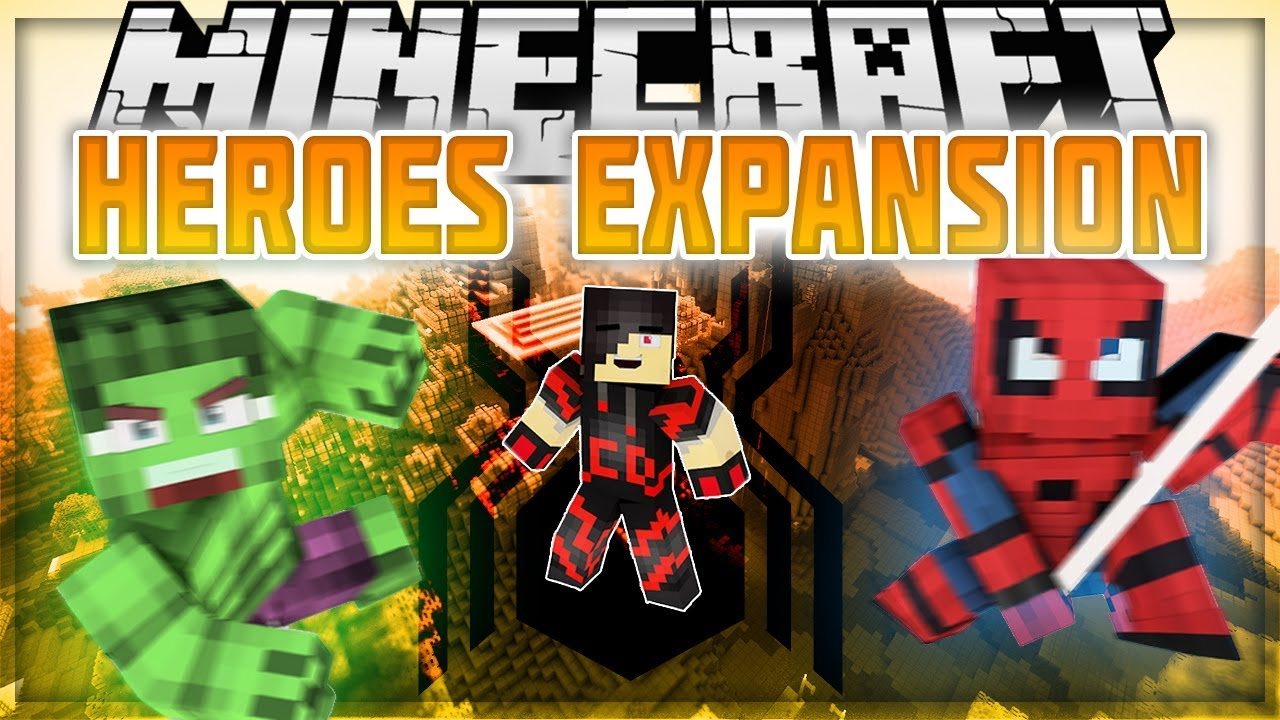 Minecraft: Mod Showcase - Heroes Expansion [UPDATE] SPIDER-MAN, HULK AND  MORE