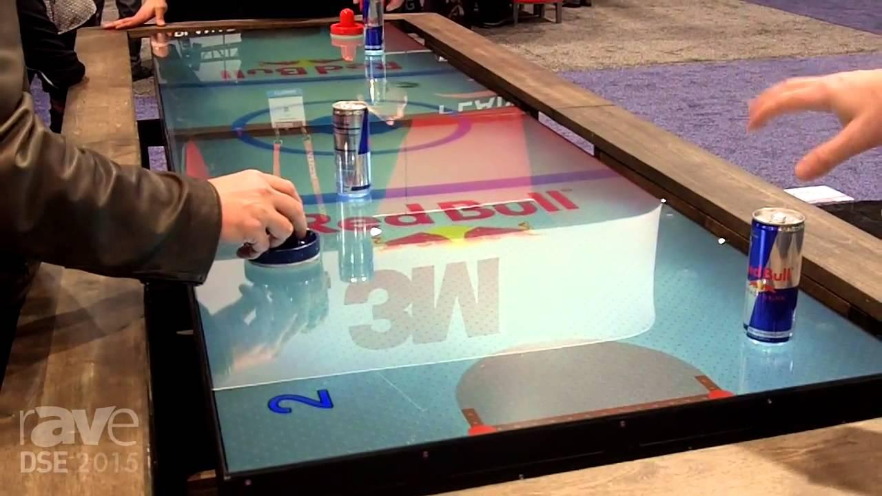 Dse 2015 Multitaction Demos Digital Air Hockey Table Youtube