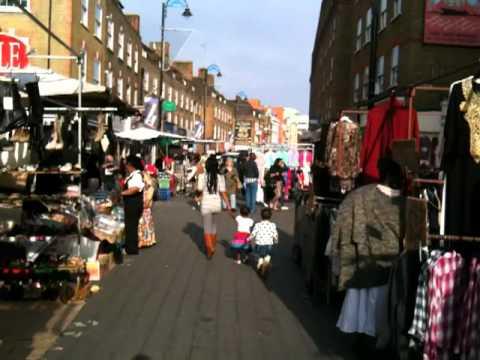 Petticoat Lane street market in London