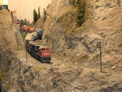 Thumbnail: Thompson River Canyon ( Canadian National Railway) - N scale trains - Great Model RailRoad - PoathTV