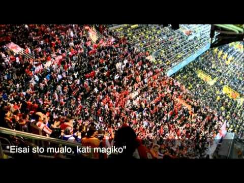 Olympiakos fans in Dortmund