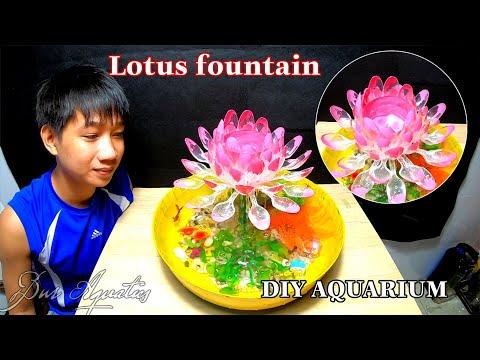 The idea of making aquarium water fountain plastic bottles is amazingly beautiful | DIY Aaquarium