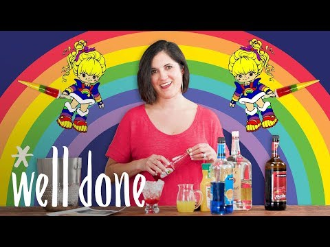 Rainbow Cocktail: How To Mix Up A Colorful Cocktail | Mom Vs | Well Done