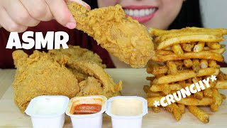 *CRUNCHY* ASMR POPEYES FRIED CHICKEN + CAJUN FRIES (EATING SOUNDS, NO TALKING)   Ailee ASMR