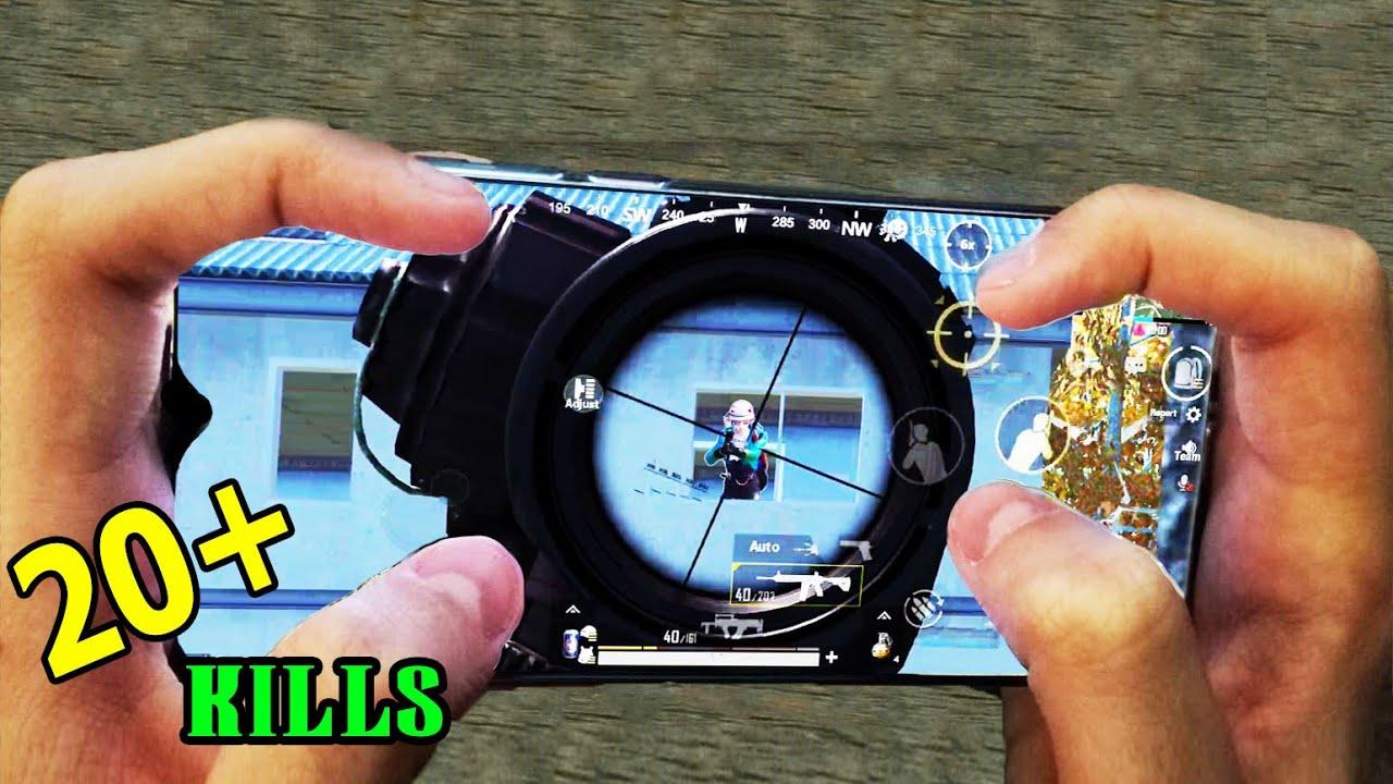 Redmi Note 8 Pro PUBG   HANDCAM   4 Finger + Full Gyro   Solo vs Squad ! #78