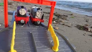 Thomas and Friends Toy Trains at the Seaside for Children