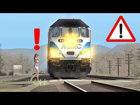 Train runs over person 😱😢