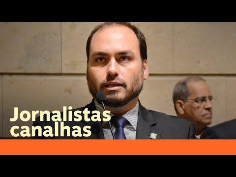 Jornalista 'canalha' ensina interpretação de texto a Carlos Bolsonaro
