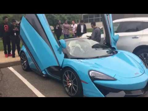 Driving A Mclaren to High School at 16! Funny Supercar Reactions!!