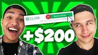 BUYING MY FRIEND $200 WORTH OF ROBUX PRANK!