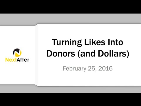 Turning Likes Into Donors and Dollars