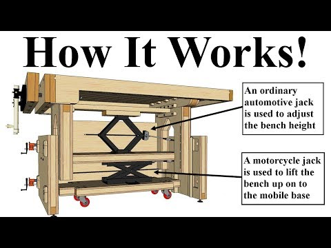 Adjustable Height Workbench Design - You've Gotta See This!