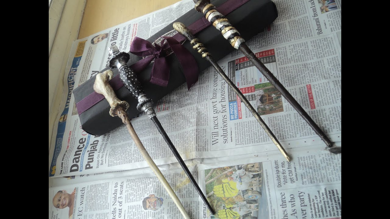 Diy easy harry potter wand tutorial youtube for Elder wand stand