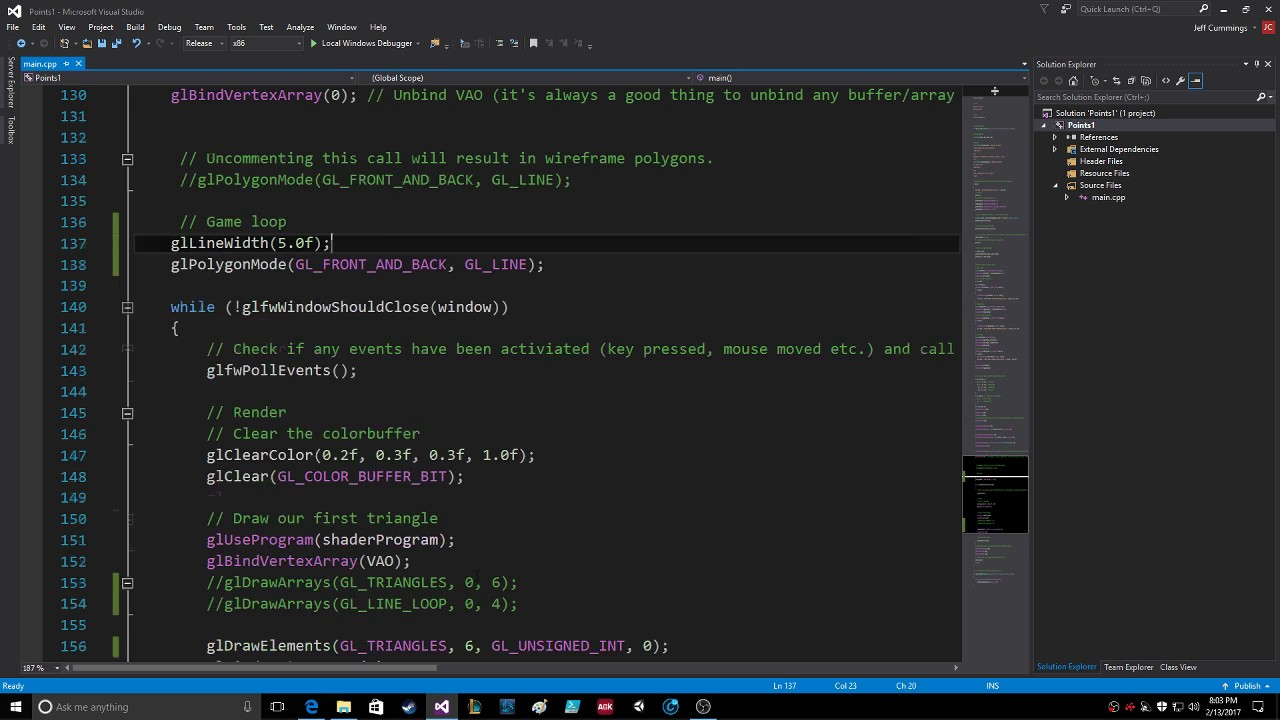 OpenGL Global Settings Wireframe Mode GL POINT GL LINE