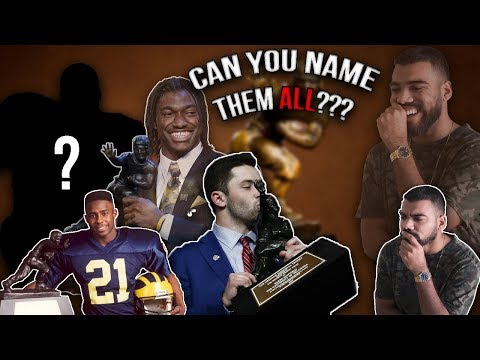 Can You Name Every Heisman Trophy Winner Ever??? *IMPOSSIBLE*