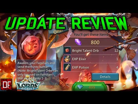 Familiar Awakening Update Review - Lords Mobile Familiar Update