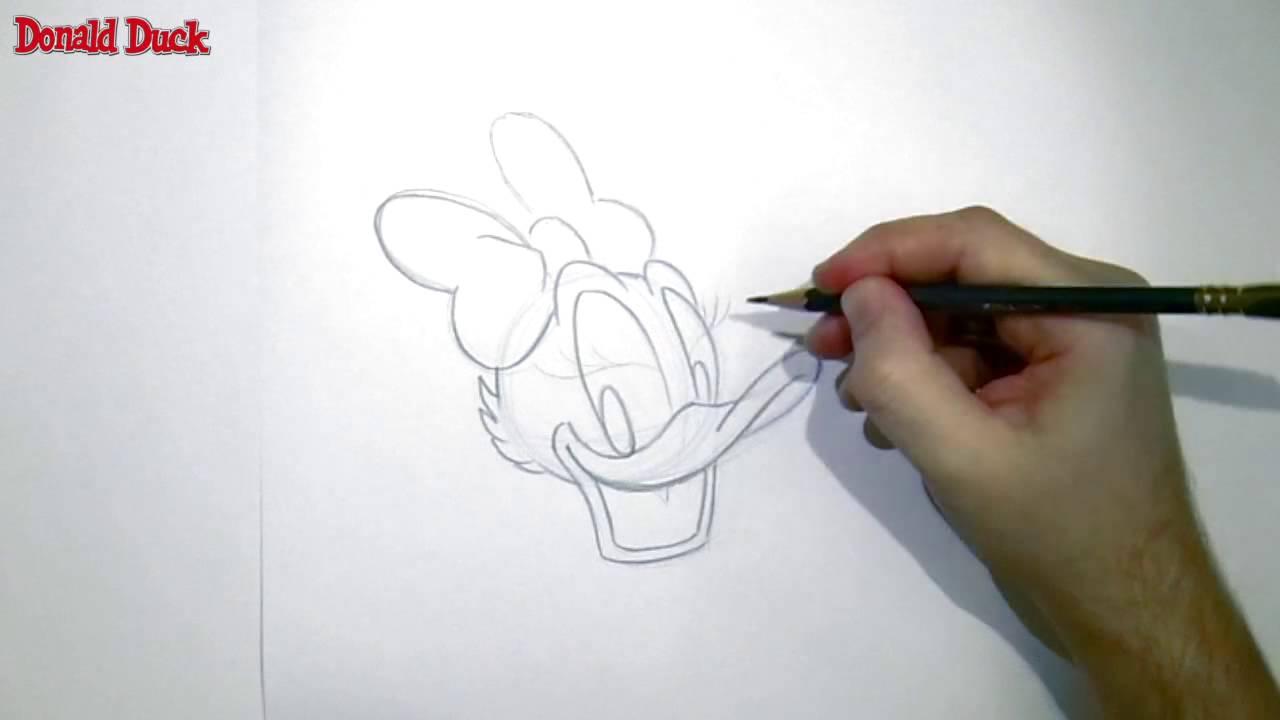 Kleurplaten Donald Duck Gezicht.Tekenen Katrien Duck Youtube