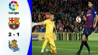 Download Video Hasil La Liga Spanyol Barcelona VS Real Sociedad 21 April 2019 | Laliga Spain El Clasico MP3 3GP MP4