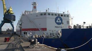 Первый в мире плавучий атомный энергоблок отправляется из Мурманска на Чукотку.