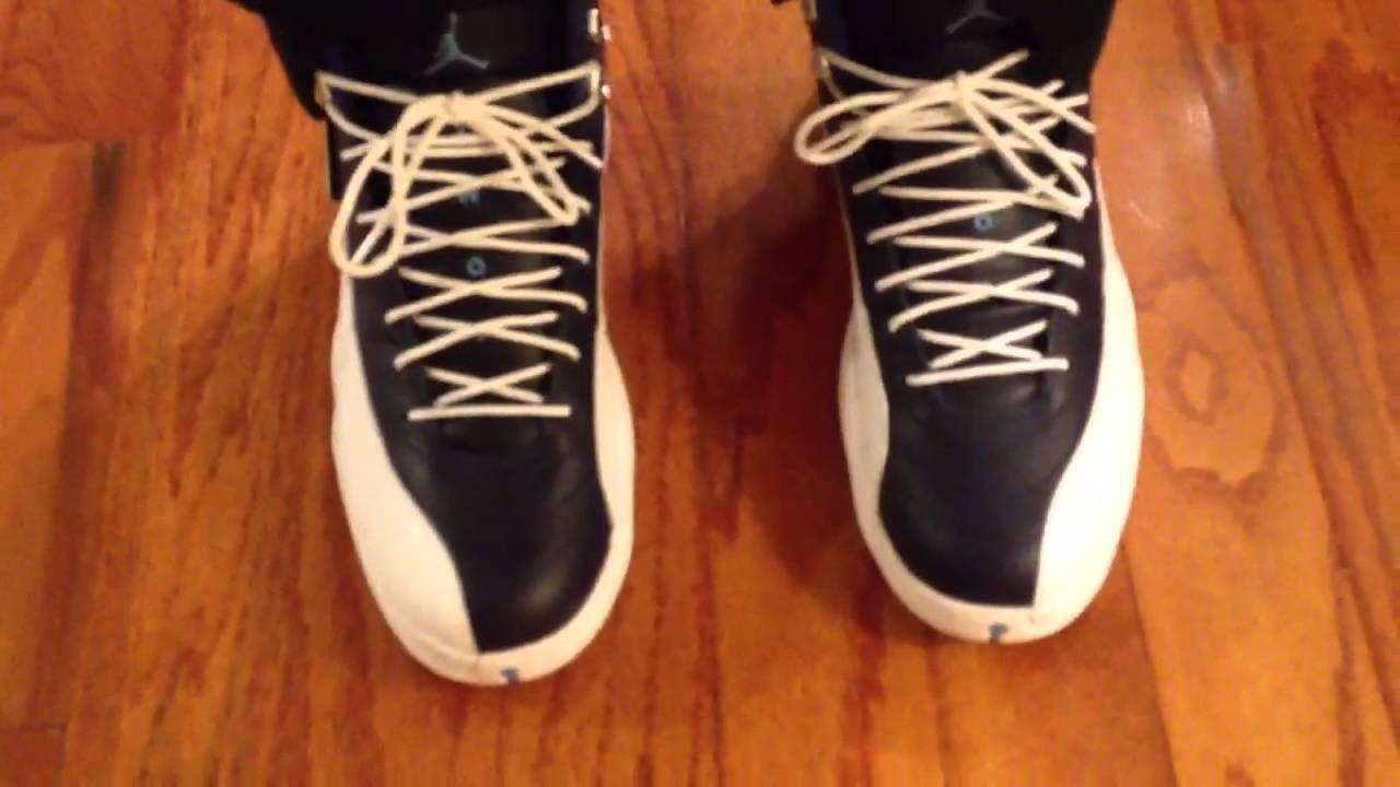 947912d1d79 Air Jordan 12 XII Retro Obsidian on feet - YouTube