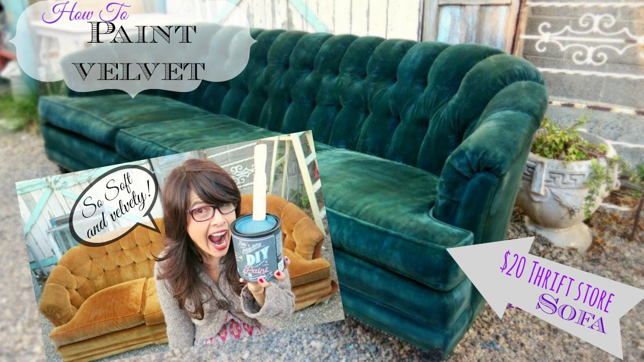 High Quality How To Paint Upholstery, Keep It Soft, And Velvety! No Cracking Or Hard  Texture!   YouTube