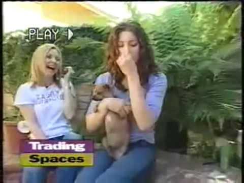 Trading Spaces 2003   7th heaven cast Jessica Biel, Beverley Mitchell, Geoff & George Stults