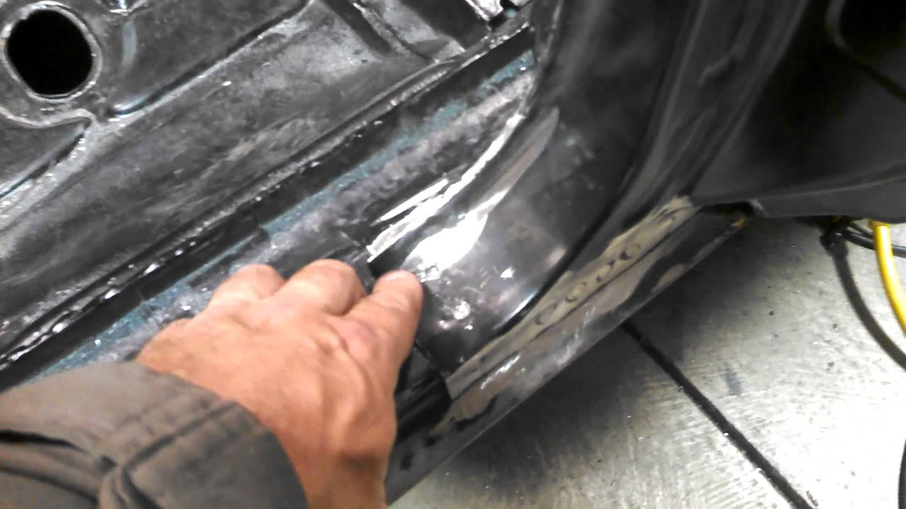 Welding The Rear Quarter Panel 67 Camaro Convertib Youtube