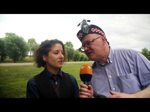 The Owl Town Pipe & Drum Band  begleitet von Joachim Winter auf dem Schottenfestival Xanten 2018