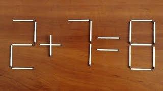 Головоломки со спичками 1/71 Удалите 1 спичку чтобы исправить уравнение