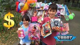 Berburu Paman Penjual Mainan Keliling - Beli Mainan Tobot Murah!