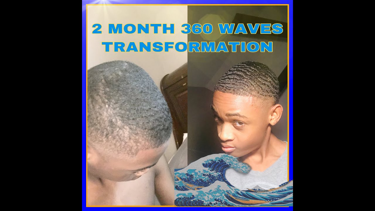 MY 2 MONTH 360 WAVE TRANSFORMATION (COARSE HAIR)!!