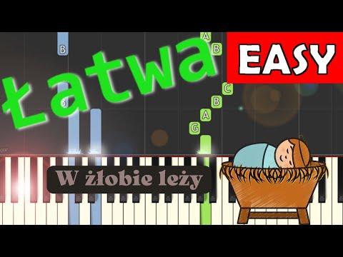 🎹 W żłobie leży - Piano Tutorial (łatwa wersja) 🎹