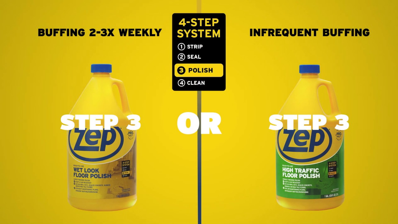 Zep Wet Look Floor Polish Step 3 Option Youtube