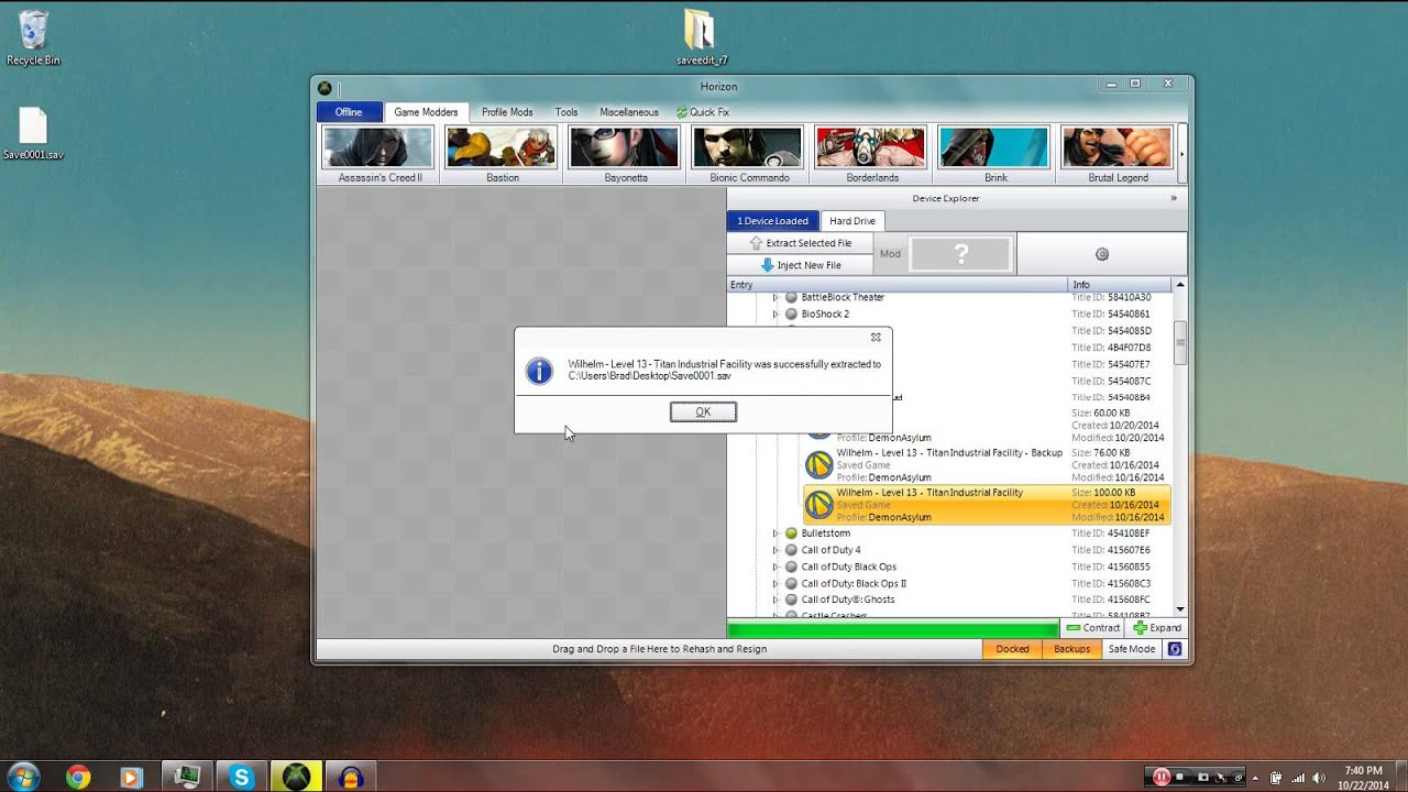 Borderlands The Pre Sequel Mods - Xbox 360 Modding Tutorial (Gibbed's Save  Editor)