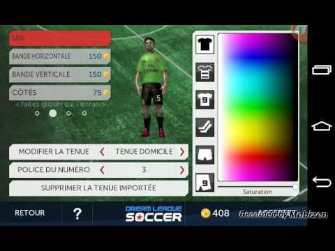 Importer un kits (maillot) sur Dream League Soccer - YouTube