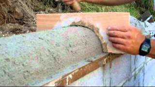 Revoque -zarpadeado Muro de contención con hormigón y bloques armados  Capítulo III video nº 53