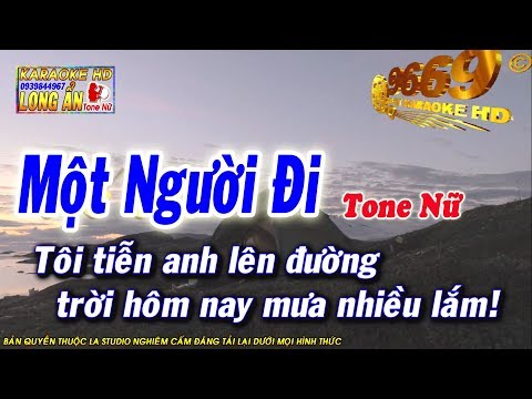 Karaoke Một Người Đi | Tone Nữ | Nhạc sống LA STUDIO | Karaoke 9669