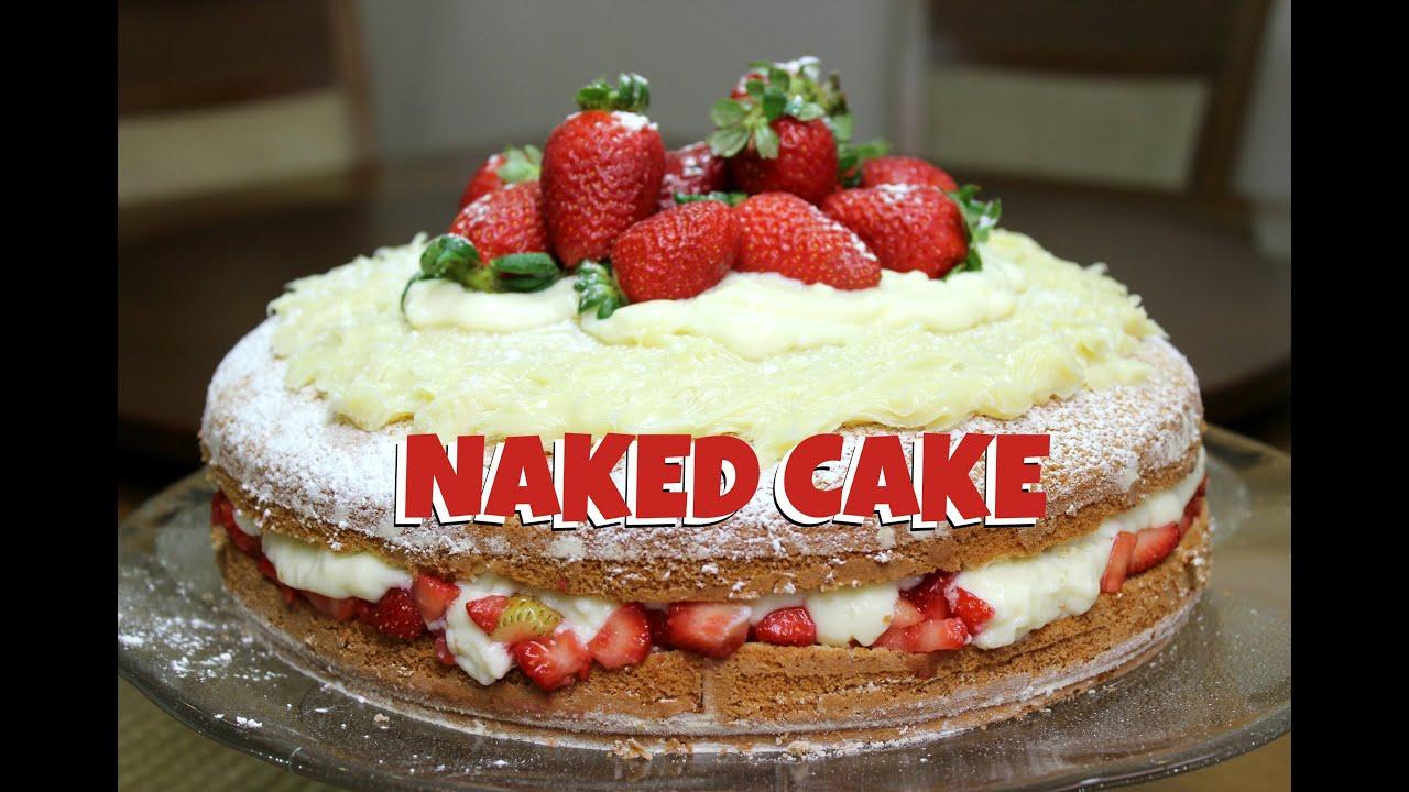 Naked Cake de Chocolate com Brigadeiro Branco | Cakepedia