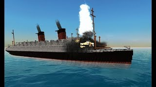 The sinking of SS Ile de France