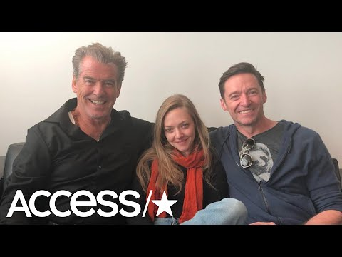 Pierce Brosnan Shares Epic Airport Snap With Hugh Jackman & Amanda Seyfried