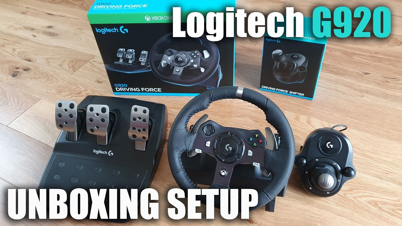 Download Logitech G920 steering wheel for a XBOX/PC for Beginners Unboxing and Setup