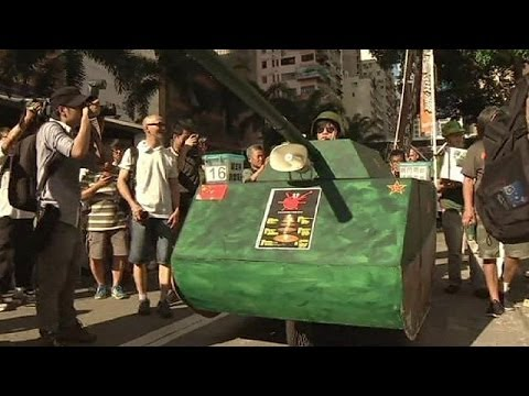 Protests in Hong Kong mark Tiananmen Square anniversary