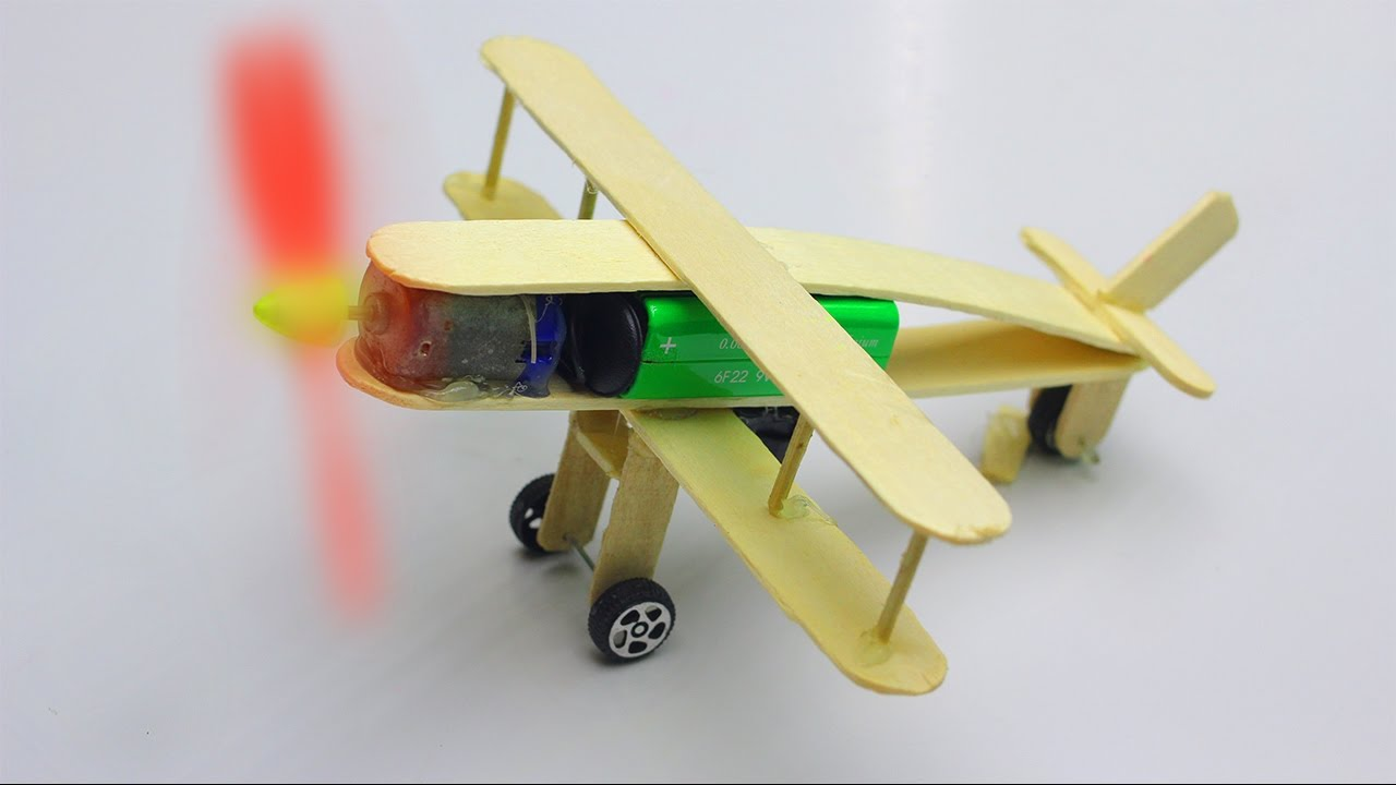 how to make a plane with dc motor download