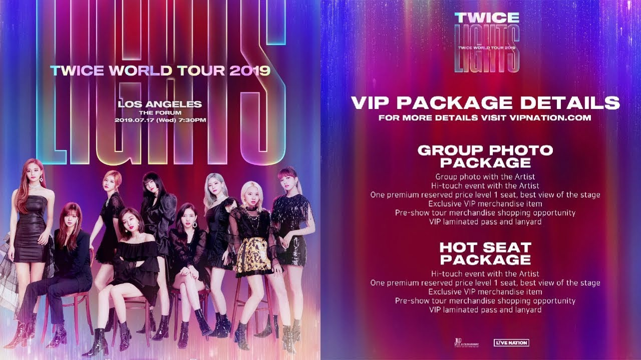 Twice World Tour 2019 Twicelights Usa Concerts Ticketing Info